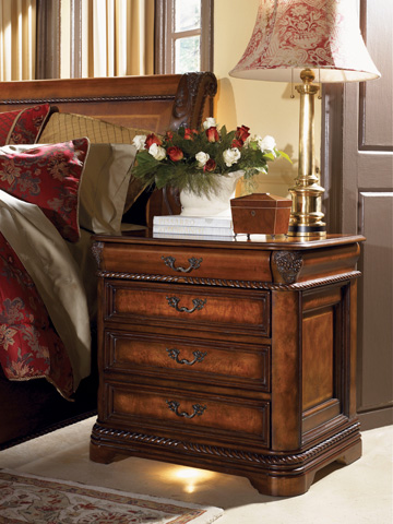 Image of Four Drawer Nightstand