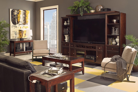 Aspenhome - Entertainment Center - I10-MEDIA
