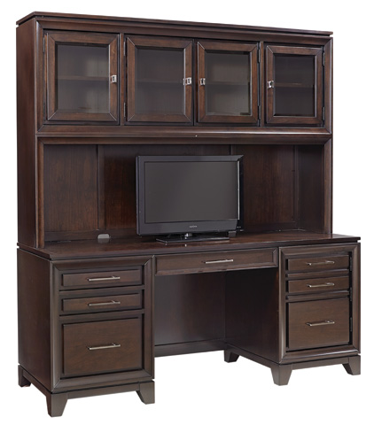 Image of Credenza Desk with Hutch