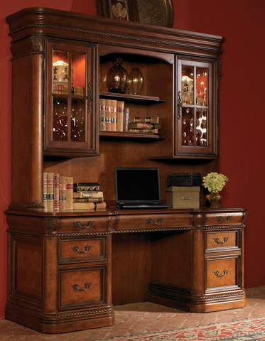 Aspenhome - Credenza Desk with Hutch - I74-DESK2