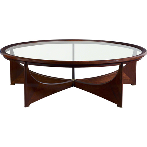 Image of Dana Round Glass Top Cocktail Table