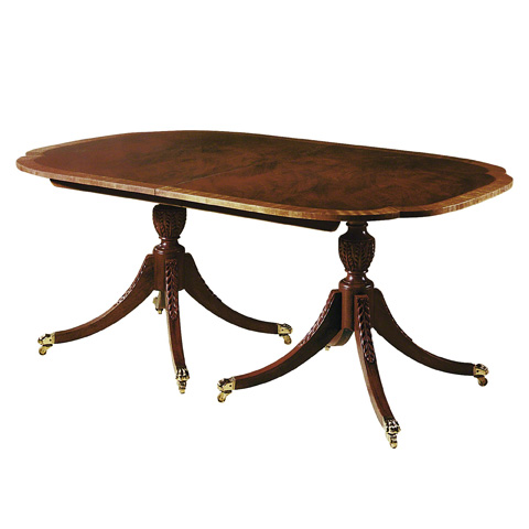 Image of Double Pedestal Dining Table