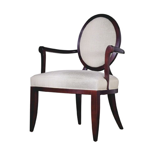 Image of Oval X-Back Dining Arm Chair