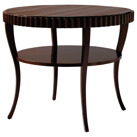 Baker Furniture - Fluted Accent Table - 3465