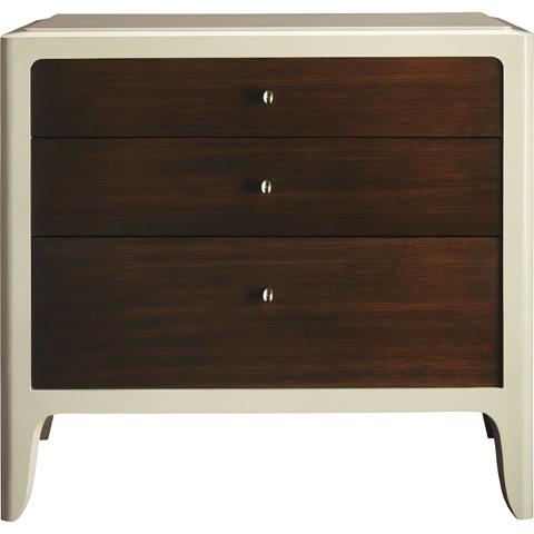 Baker Furniture - Soft Corner Three Drawer Bedside Chest - 3608-1