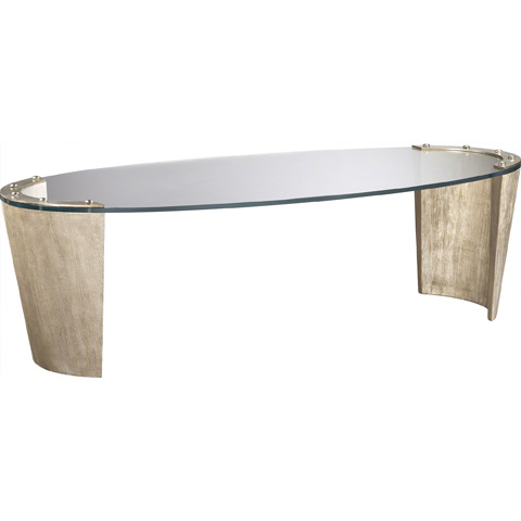 Baker Furniture - Strelka Cocktail Table with Glass Top - 3851