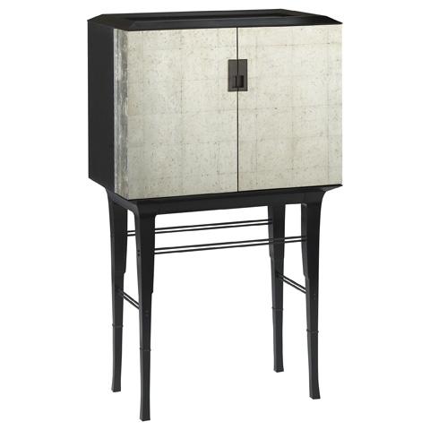 Baker Furniture - Kiosk Silver Butlers Cabinet - 4070G