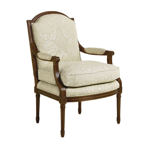 Baker Furniture - Upholstered Arm Accent Chair - 456