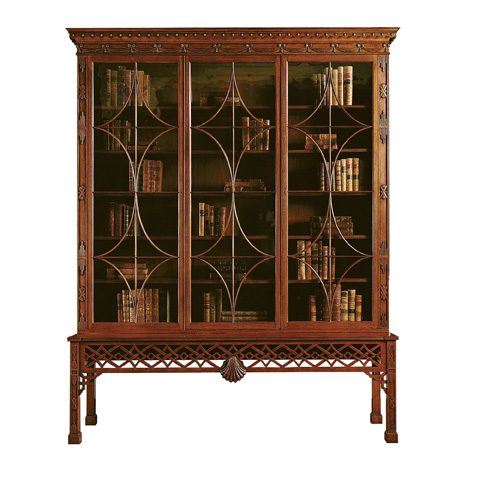 Image of Irish Chinese Chippendale Mahogany Cabinet
