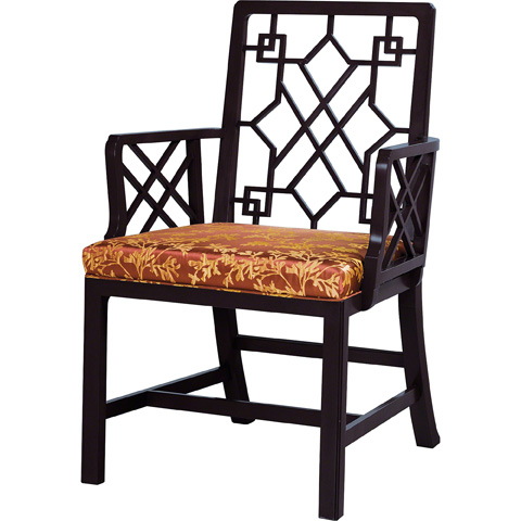 Baker Furniture - Chinese Chippendale Arm Chair - 5247