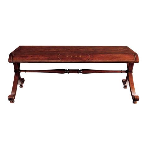 Baker Furniture - Walnut Rectangular Cocktail Table - 5251