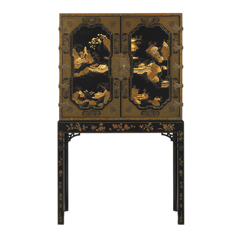 Baker Furniture - George III Oriental Lacquer Cabinet - 5370