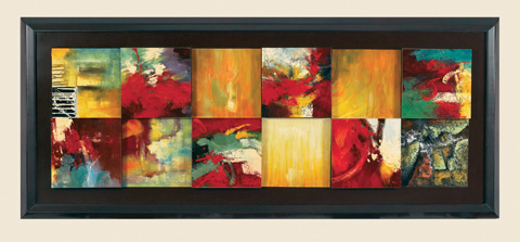 Bassett Mirror Company - Red Abstract Canvas Frame - 7200-766