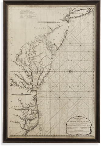 Image of Coastal Chart of East Coast