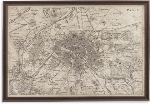 Bassett Mirror Company - Map of Paris - 9900-256