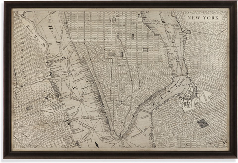 Image of Vintage Map of New York
