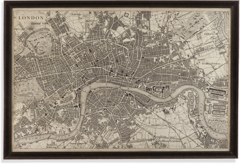 Image of Vintage Map of London