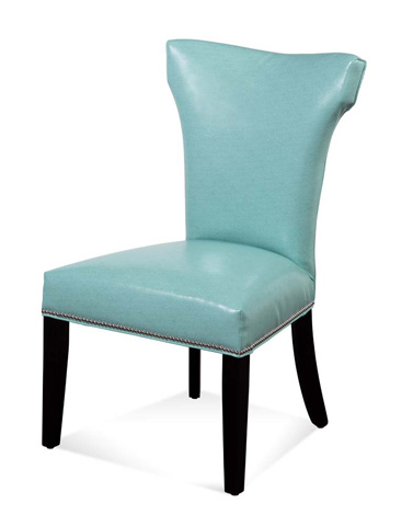 Image of Nelson Shaped Nailhead Parson in Aqua