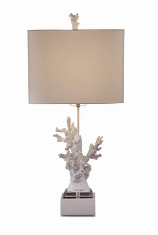 Image of White Coral Table Lamp