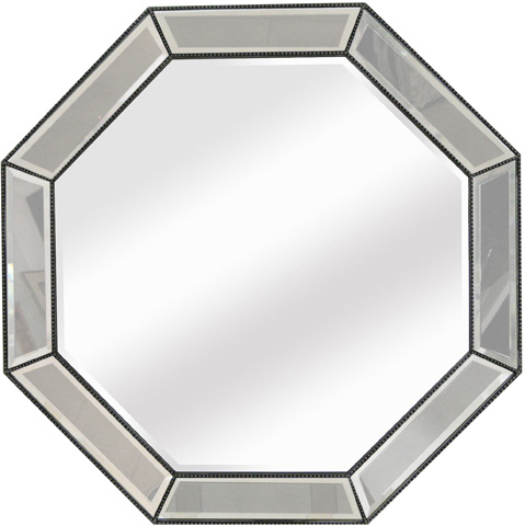 Image of Beaded Octagon Wall Mirror