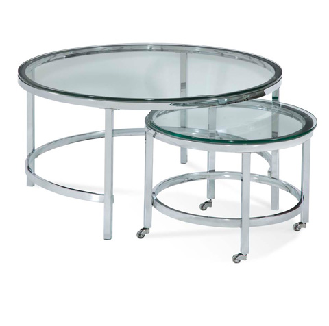Bassett Mirror Company - Patinoire Round Cocktail Table - T1792-120C