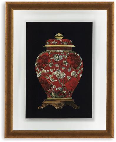 Bassett Mirror Company - Red Porcelain Vase II - 9900-298B
