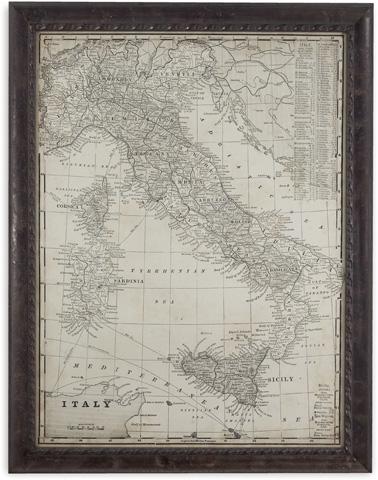 Bassett Mirror Company - Antique Map of Italy - 9900-346