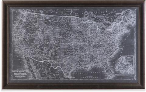 Bassett Mirror Company - US Map Blueprint - 9900-488