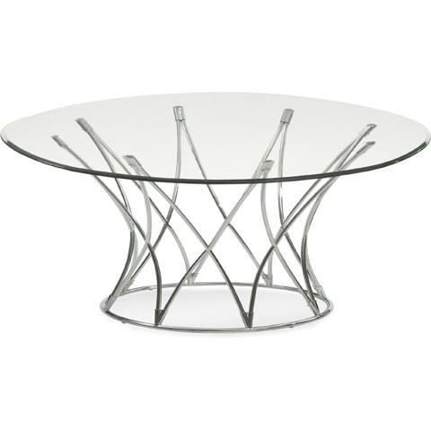 Bassett Mirror Company - Mercer Round Cocktail Table - 2874-120
