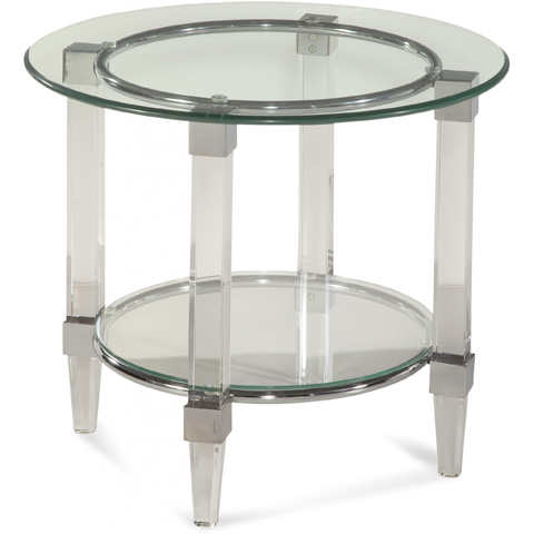 Bassett Mirror Company - Cristal Round End Table - 2929-220
