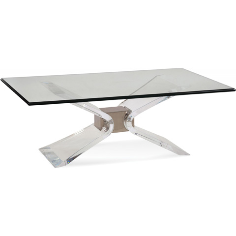 Bassett Mirror Company - Silven Rectangular Cocktail Table - 2999-100B-T