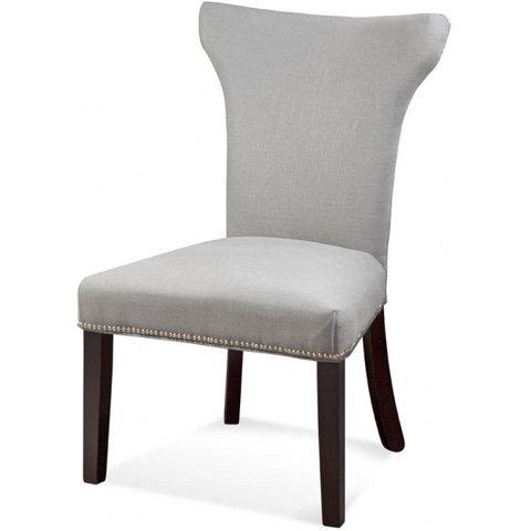 Image of Nelson Shaped Nailhead Parson Side Chair