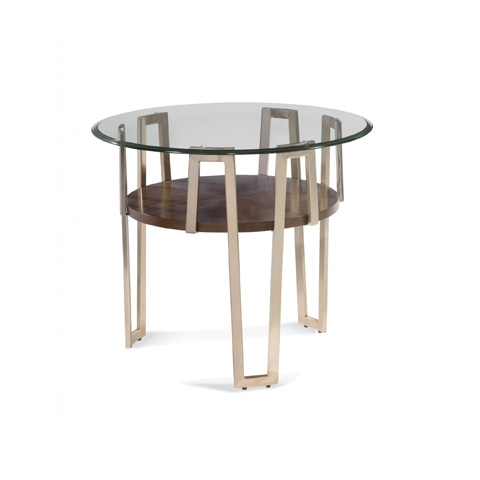 Bassett Mirror Company - Cornell Round End Table - 3017-221B-T