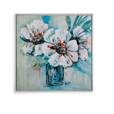 Bassett Mirror Company - Flowers in White - 7300-261