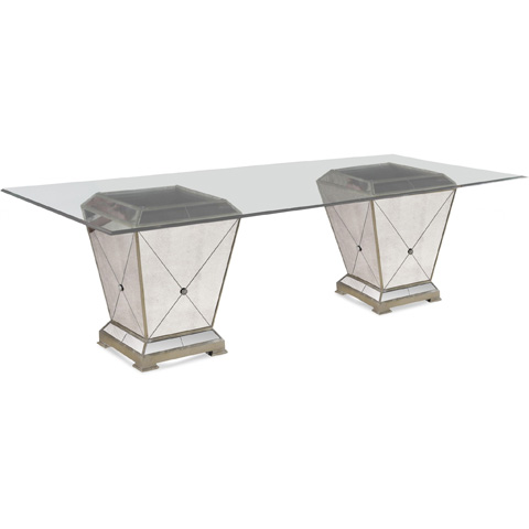 Bassett Mirror Company - Borghese Dining Pedestal Table - 8311-601-909