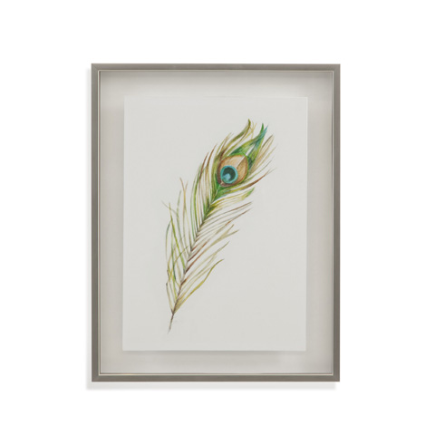 Bassett Mirror Company - Watercolor Peacock Feather II - 9900-853B