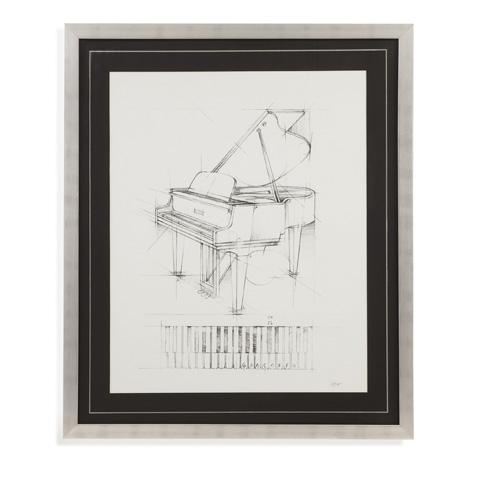 Bassett Mirror Company - Piano Sketch - 9900-862