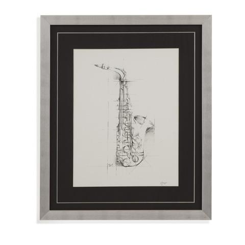 Bassett Mirror Company - Saxaphone Sketch - 9900-863B