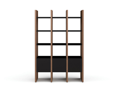 Image of Three Section Bookcase