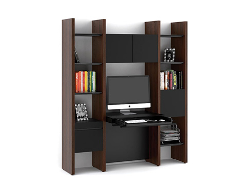 BDI - Desk with Bookshelf - 5413-DG