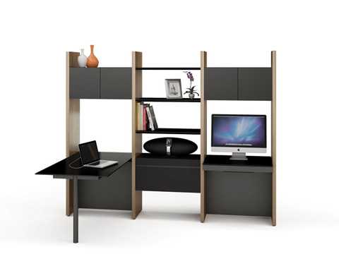 Image of Desk with Bookshelf