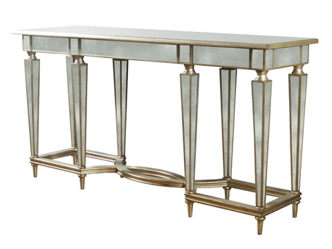 Image of Console Table with Antique Mirror
