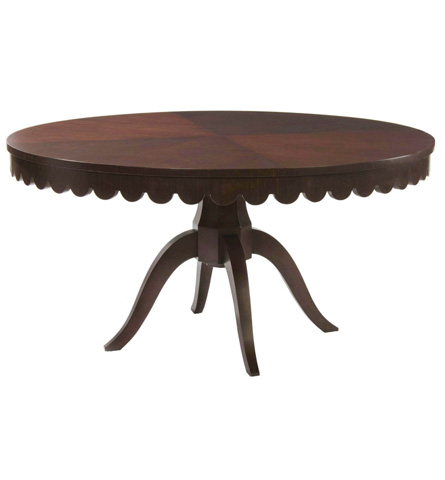 Belle Meade Signature - Julianne Old Hollywood Scalloped Dining Table - 3015