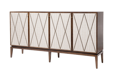 Belle Meade Signature - Arianna Mid Century Modern Upholstered Credenza - 4097N