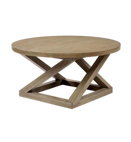 Belle Meade Signature - Landon Architectural Plank Top Cocktail Table - 5008