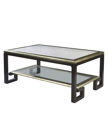 Belle Meade Signature - Cicero Mother Of Pearl Greek Key Cocktail Table - 6015