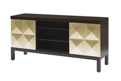 Belle Meade Signature - Hollywood Regency Faceted Media Console - 6062