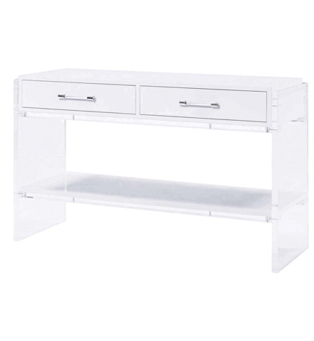 Belle Meade Signature - Wyman Holllywood Regency Acrylic Console Table - 7027