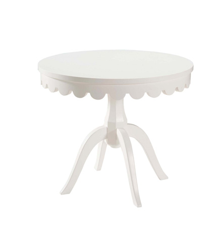 Belle Meade Signature - Lucien Old Hollywood Scalloped Lamp Table - 9008