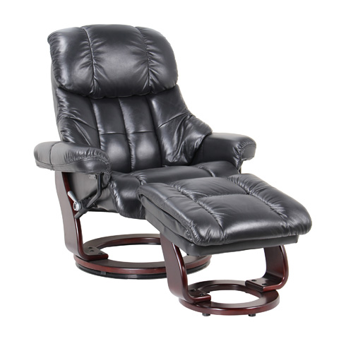 Benchmaster Furniture, Llc - Nicholas Ebony Swivel Glider - 7438-056-19